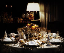 Decorated christmas dining table  by Bombaert Patrick