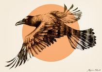 Orange raven von Rebecca Elfast