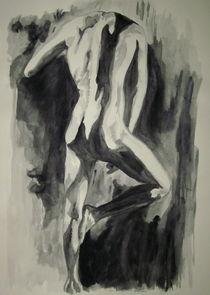 Akt - Mann stehend by Susanne Edele