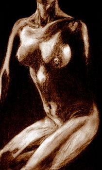 Akt Frau - Sepia von Susanne Edele