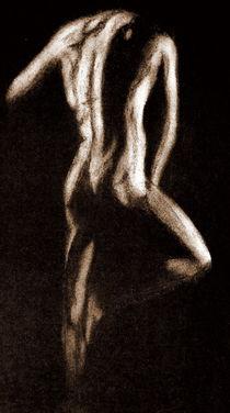 Akt - Mann - Sepia von Susanne Edele