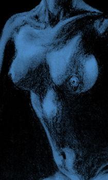 Akt - Frau - Blau by Susanne Edele