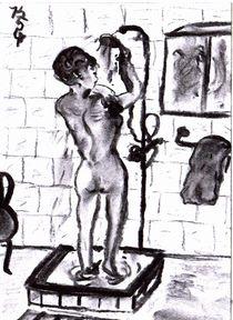 Frau-duscht