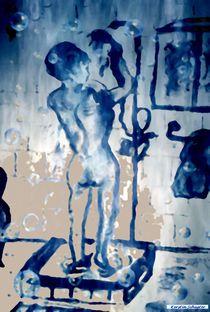 Frau unter der Dusche von Kerstin Schuster