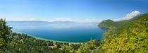 Ohrid lake panorama