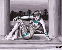 Bastet Egyptian Cat- goddess von Stacy Parker