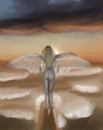 Angel on the beach by Stacy Parker