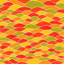 colorful seamless abstract hand-drawn pattern, waves background in autumnal theme by markovka