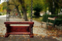 Empty swing by Octavian Iolu