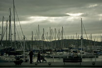 Boats at the Port of Gijon by Victor Santos