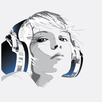Headphone_Girl by Koen Mok