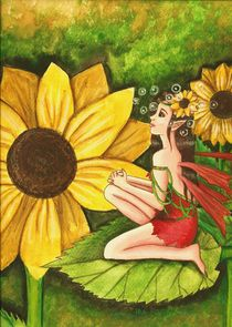 Among The Sunflowers by Danielle Robichaud