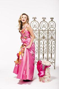 Blonde girl in pink by vito vampatella