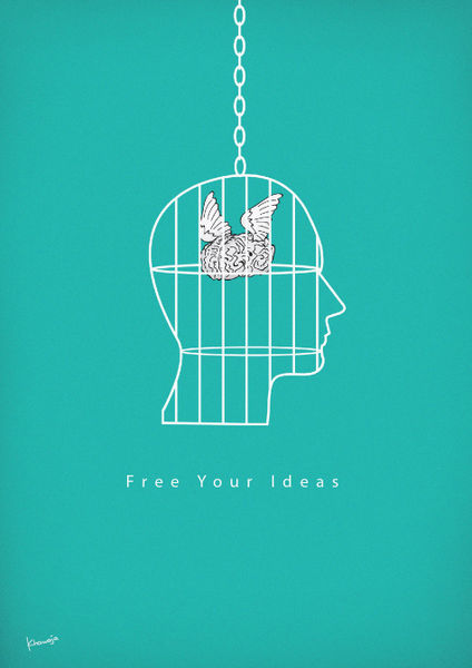 Free You Ideas Graphic Illustration Art Prints And