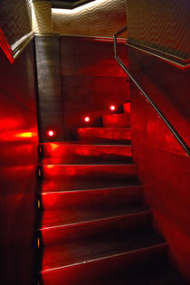 red staircase von michal gabriel