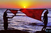 Sunset in Haifa von Damien Schumann