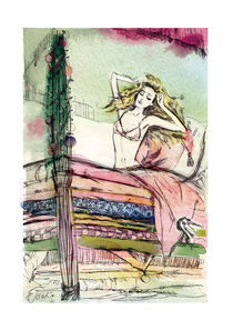Princess on the pea by Elena Tsaregradskaya