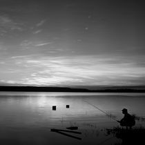 Fishing in the sunset by erich-sacco