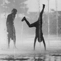 Playing in the fountain VI by erich-sacco
