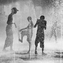 Playing in the fountain by erich-sacco