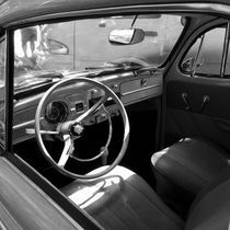 Interior of an old Volkswagen by erich-sacco
