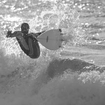 surfer on the wave in Brazil by erich-sacco