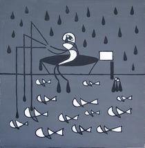 sad fishman and dead fishes von Michal Cavoj