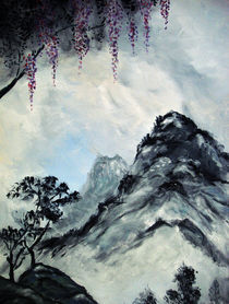 Blossoms and Mountains by Christina Schwartzman