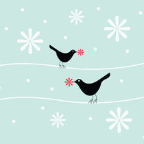 snowflake birds by thomasdesign
