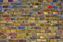 Colourful brick wall von blojfo