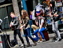 TEENAGER BAND  IN SANTA MONICA OF CALIFORNIA. by Maks Erlikh