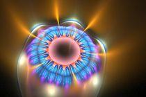 Wax Fractal Eye Flower von Branden Thompson