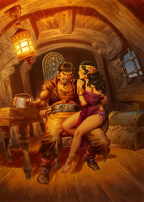 PIRATE AND WENCH von Benito Gallego