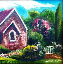 A Country Church by Therese Alcorn