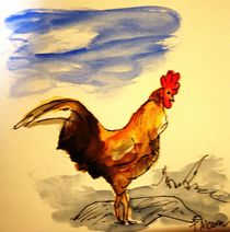 Mr Rooster by Therese Alcorn