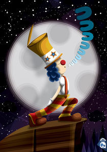 clown and the moon von miroslava soriano