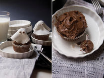 Ghost cupcakes by ichp