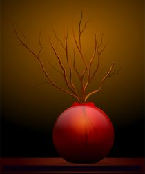 Orange-vase-and-twigs