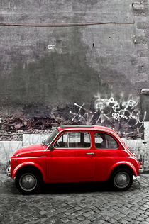 Little red car by cvc-photo