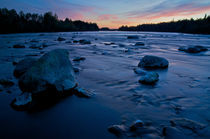 Peaceful sunset river by linconnu