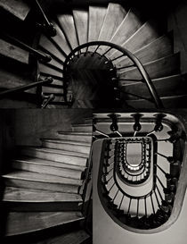 stairway in Paris by Peter Bagyinszki