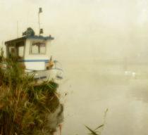 Nebelstimmung am Fluß von Franziska Rullert