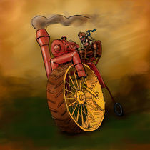 Steam powered Penny-Farthing by Daniel Keating