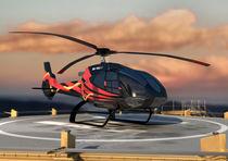 Eurocopter on the heli-pad by Mark Seberini