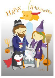 Halloween Greeting Card von anzhey pantagruel