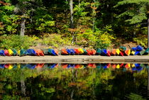 Colourful Canoes by Chelsea McPherson