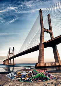 Vasco da Gama Bridge by Nelson Teixeira