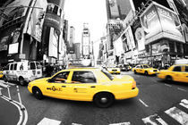 New York Taxi - Times Square - Gallery Fine Art Print by temponaut