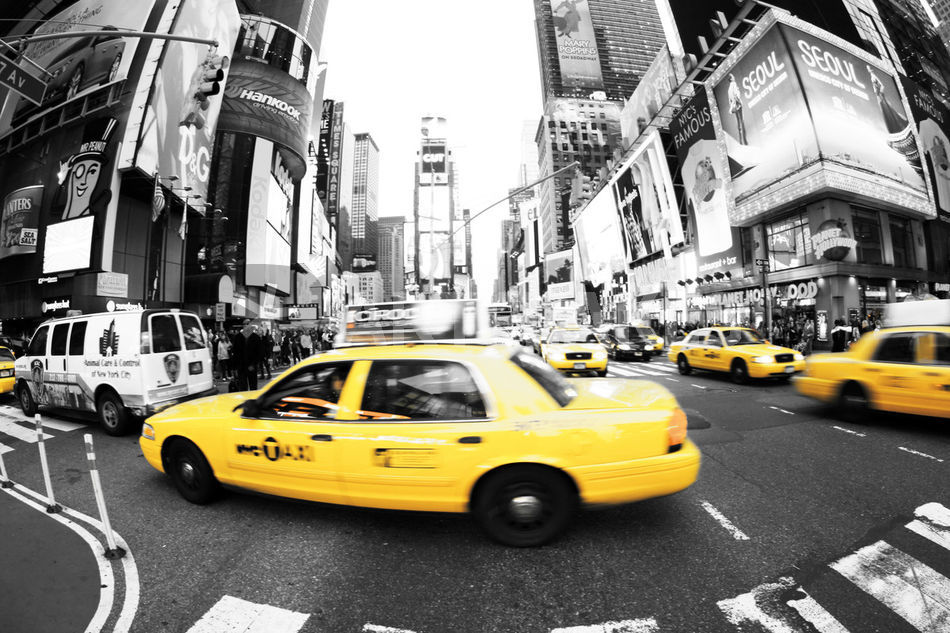 Poster New York Taxi.New York Taxi Times Square Gallery Fine Art Print Photography
