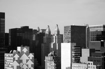 New York Manhattan - Black And White Print - Skyscrapers by temponaut